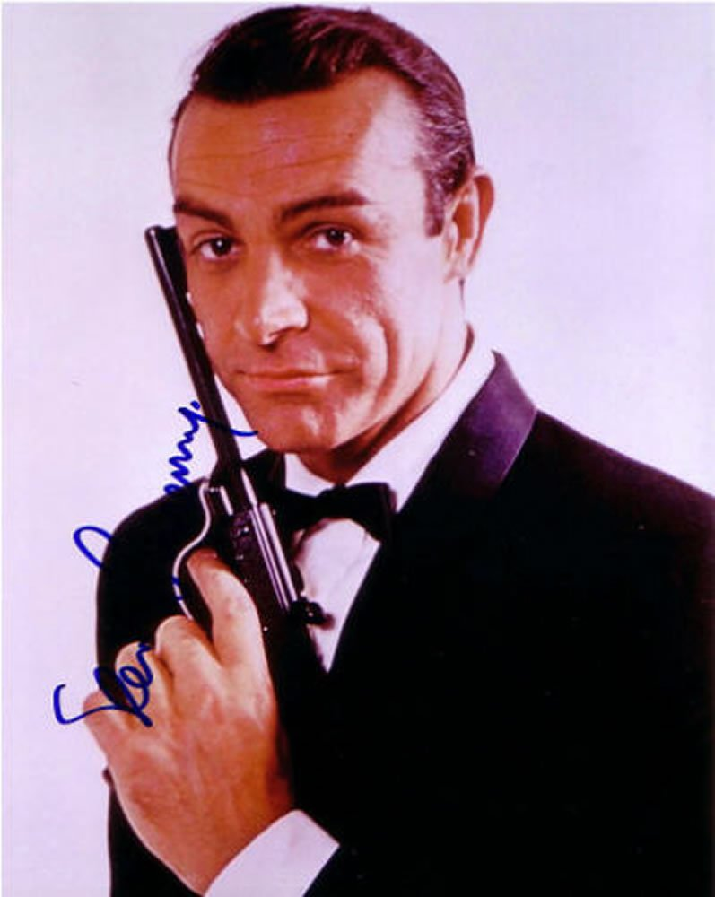 Sean Connery OO7 /James Bond Autographed Photo - (Ref:0000134)