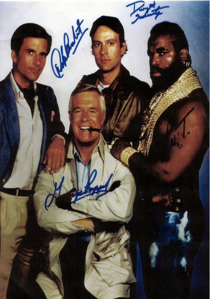 The A Team Cast  Autographed Photo - (Ref:0000137)