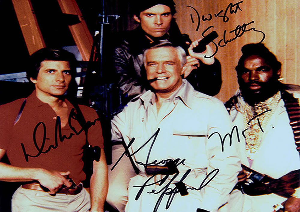 "The A Team Cast 5 x 7"" Autographed Photo - (Reprint 0138) ideal for Birthdays & X-mas"
