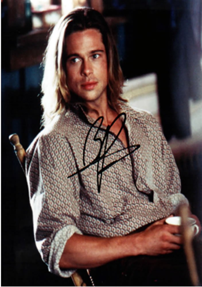 Brad Pitt Legends of The Fall Autographed Photo - (Ref:0000140)