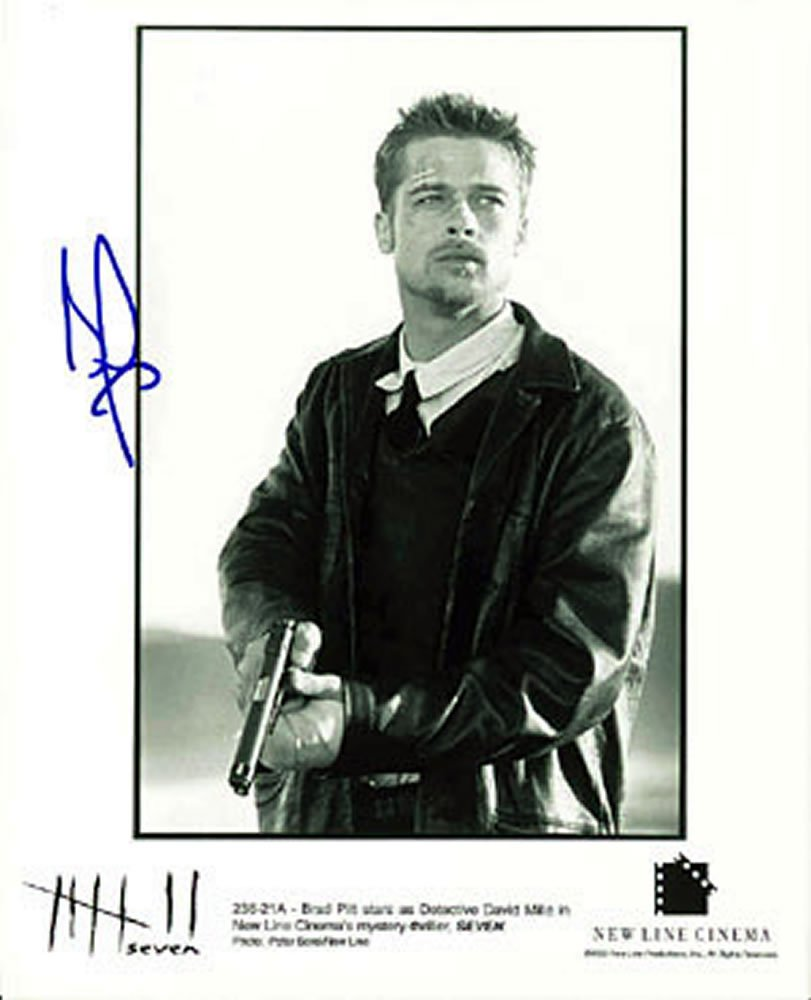 Brad Pitt se7en / Troy / The Mexican Autographed Photo - (Ref:0000142)