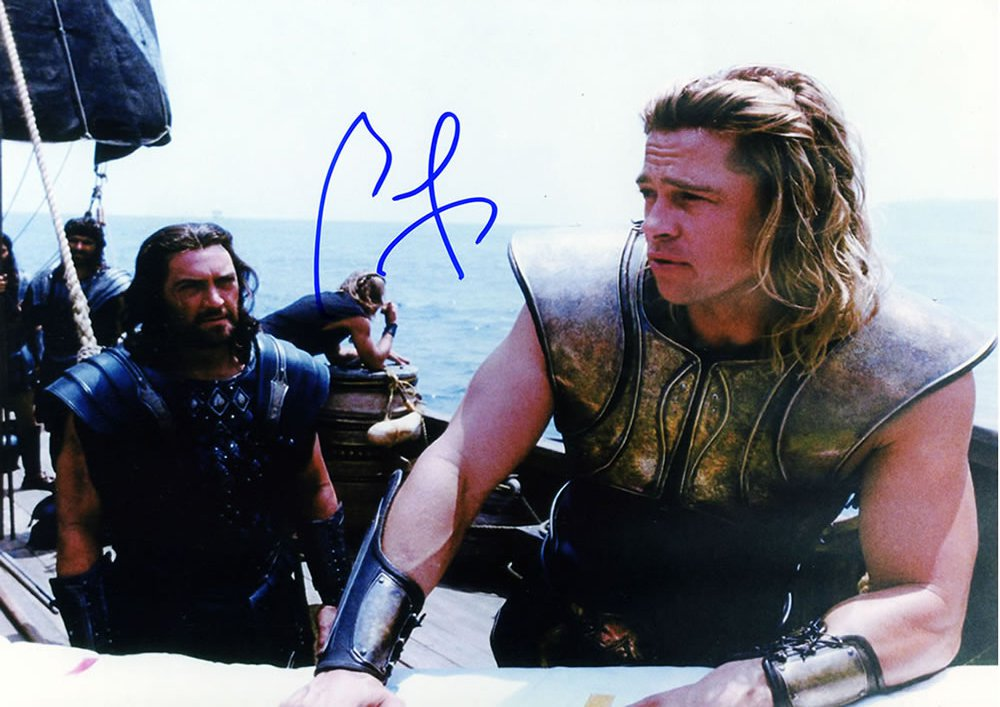 Brad Pitt  Troy / The Mexican / Burn After Reading Autographed Photo - (Ref:0000144)