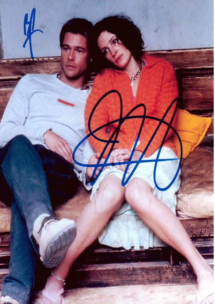 Brad Pitt & Julia Roberts The Mexican Autographed Photo - (Ref:0000146)