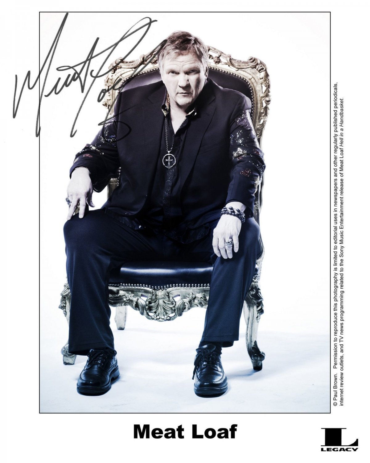 Meat Loaf (Rock Star) Autographed Photo - (Ref:00048)