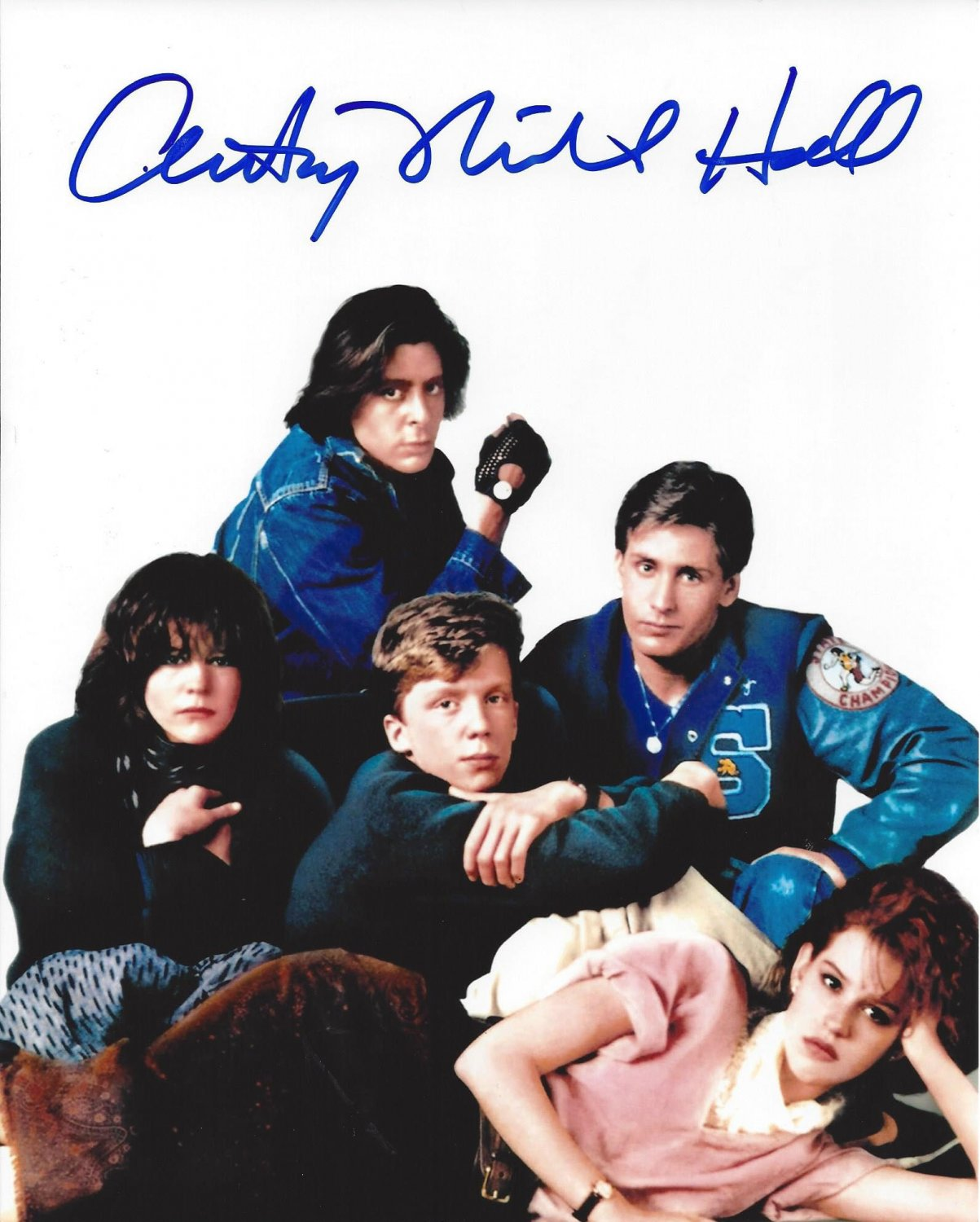 """Anthony Michael Hall The Breakfast Club 8 x 10""""Autographed Photo (Ref:00000165)"""