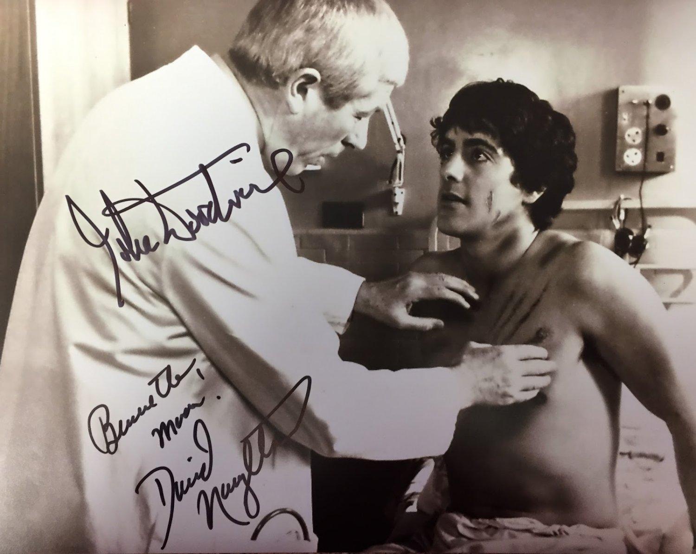 David Naughton & John Woodvine An American in London Autographed Photo (Ref:00000171)