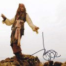 Johnny Depp as Capt Jack Sparrow Pirates Of The Carribean Autographed Photo - (Ref:000292)