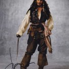 Johnny Depp Capt Jack Sparrow Pirates Of The Carribean Autographed Photo - (Reprint:000294)