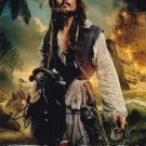 Johnny Depp as Capt Jack Sparrow Pirates Of The Carribean Autographed Photo - (Ref:000295)