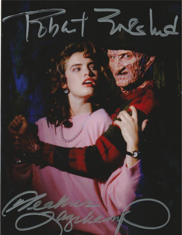 Robert Englund & Heather Langenkamp  / A Nightmare on Elm St Autographed Photo - (Reprint 317)