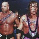 "Bill Goldberg & Bret ""The Hitman"" Hart 8 x 10"" Autographed Photo (Reprint:460)"