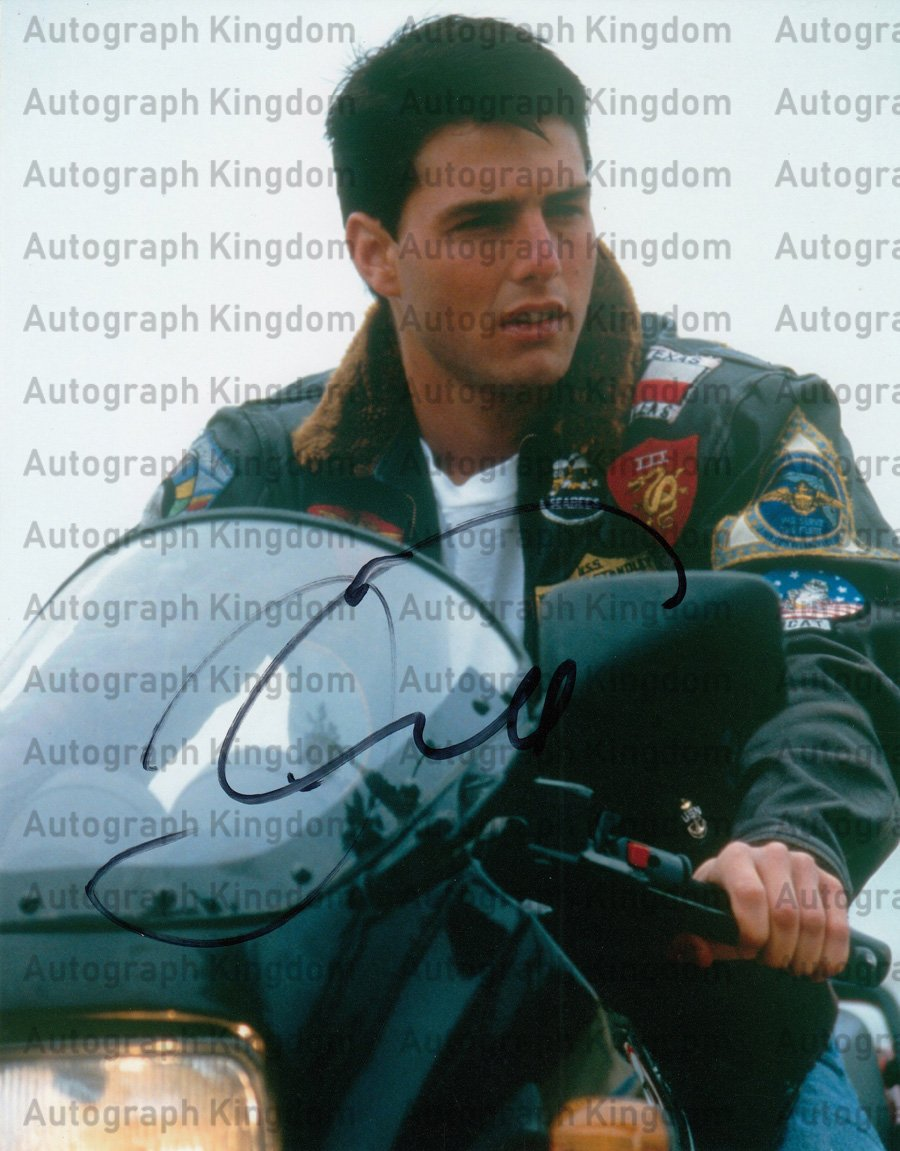 """Tom Cruise 8 x 10"""" Autographed Photo (Ref:469)"""