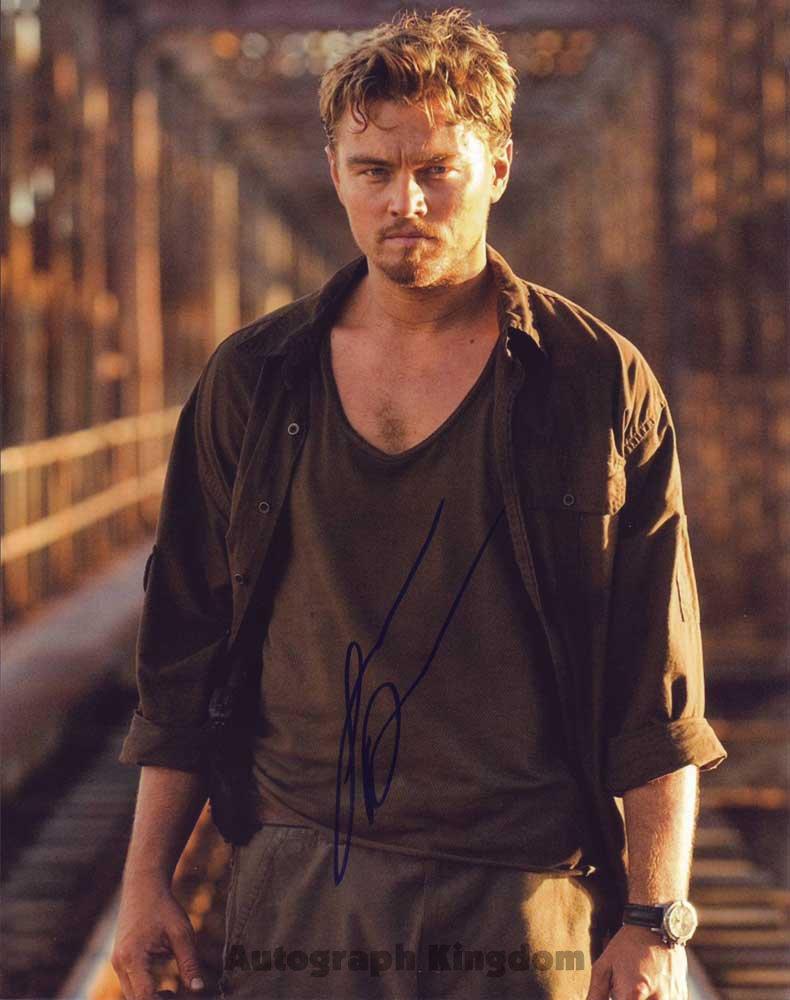 Leonardo DiCaprio The Aviator /  Blood Diamond Autographed Photo - (Ref:476)