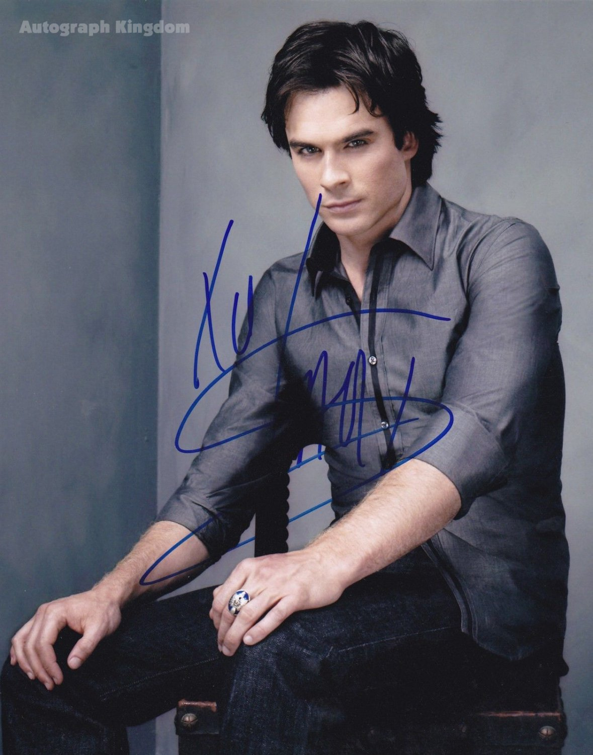 Ian Somerhalder / The Vampire Diaries Autographed Photo - (Ref:0486)