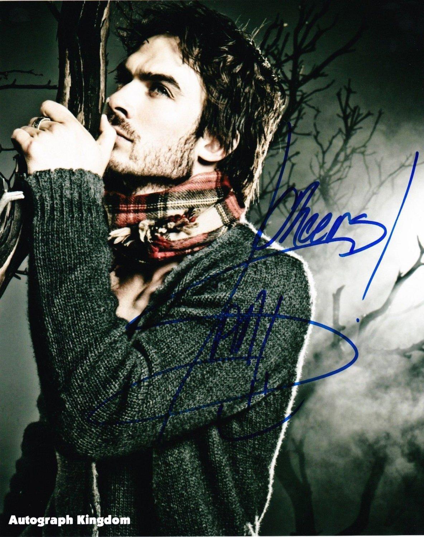 Ian Somerhalder / The Vampire Diaries Autographed Photo - (Ref:0489)