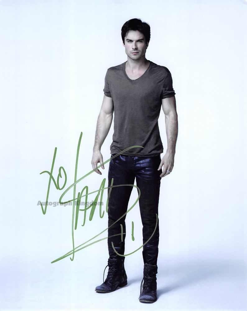 Ian Somerhalder / The Vampire Diaries Autographed Photo - (Ref:0490)