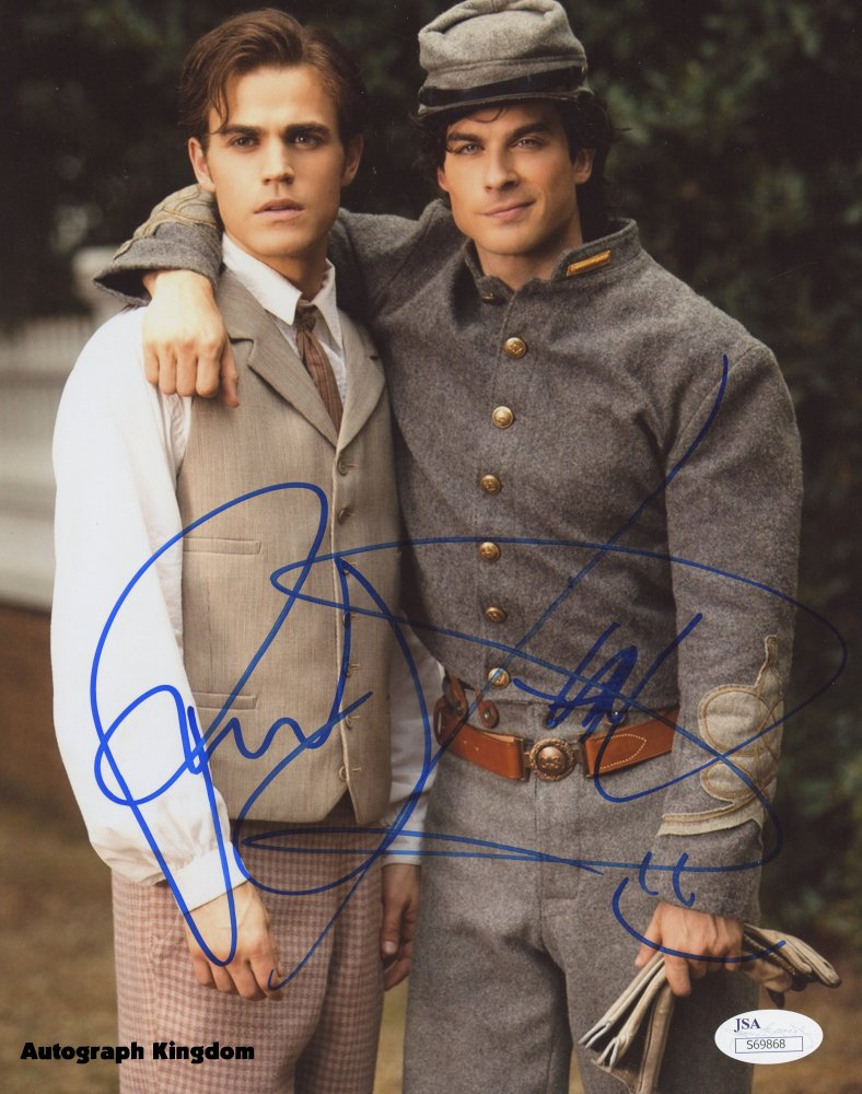 "Ian Somerhalder & Paul Wesley 8 X 10"" Autographed Photo - (Ref:0493)"