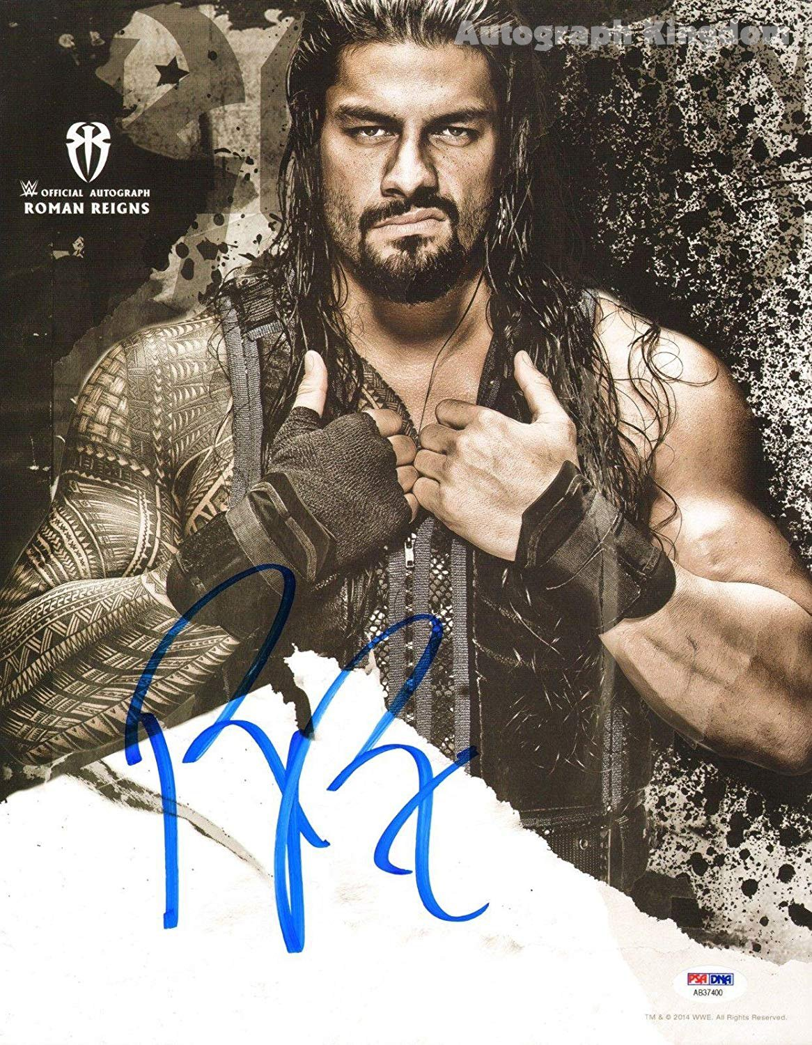 "Roman Reigns WWE Wrester 8 x 10"" Autographed Photo (Ref:498)"
