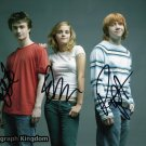 Harry Potter cast x 3 Autographed Photo (Radcliffe, Watson & Grint) - (Reprint:506)