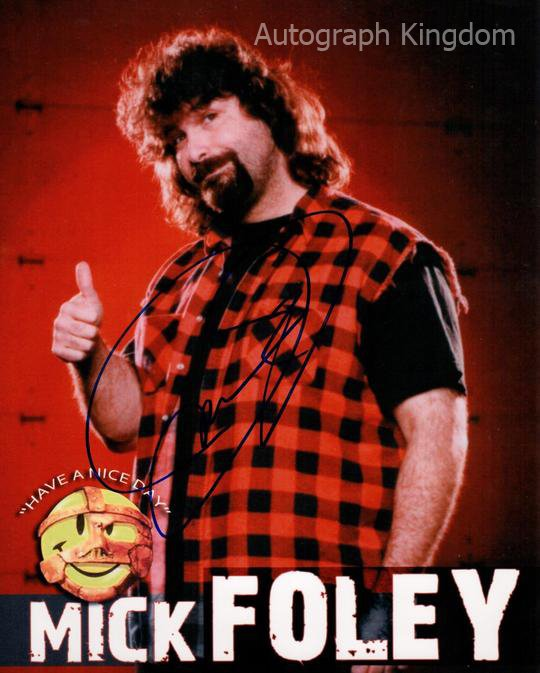 """Mick Foley Wrestler 8 X 10""""  Signed / Autographed Photo (Reprint:537) ideal for Birthdays & X-mas"""