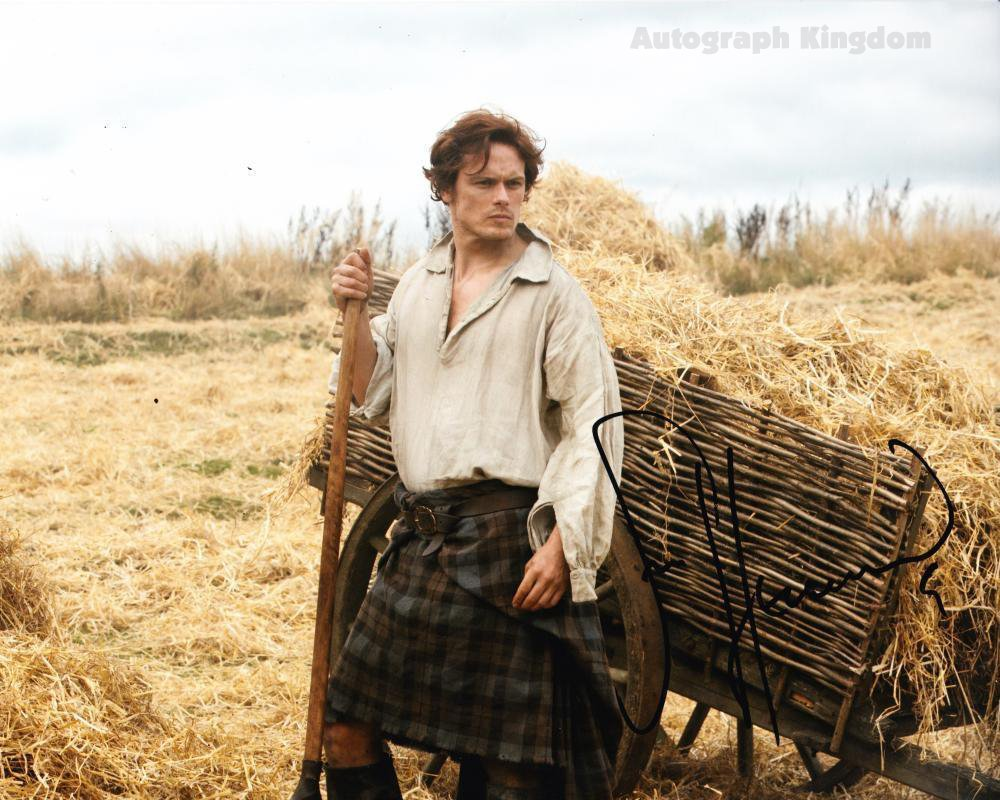 "Sam Heughan (Jamie Fraser: Outlander ) 8 X 10"" Autographed Photo (Reprint:569) Great Gift Idea!"