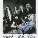 "Aerosmith Group (Rock Band) 8 x 10"" Autographed Photo - (Reprint:595)"