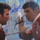 "Leonard Nimoy & William Shatner Star Trek 8 x 10"" Autographed Photo (Reprint:607) Great Gift Idea!"
