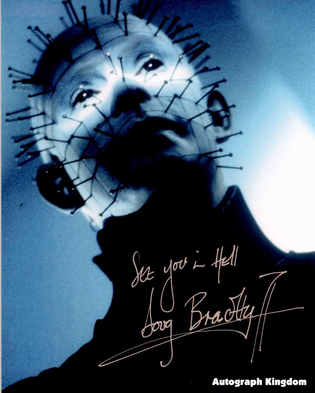 "Doug Bradley 8 x 10"" Autographed Photo Pinhead / Hell Raiser-/ Nightbreed (Reprint:614)"