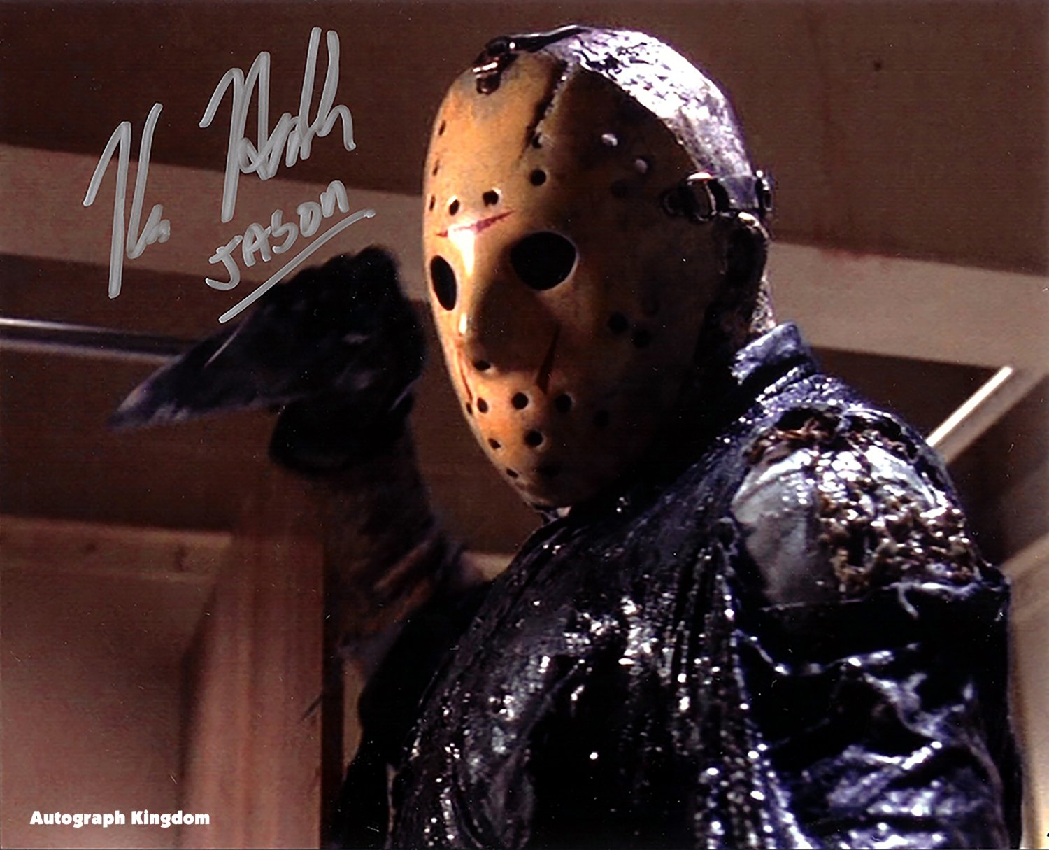 """Kane Hodder Friday The 13th 8 x 10"""" Autographed Photo (Reprint:616)"""