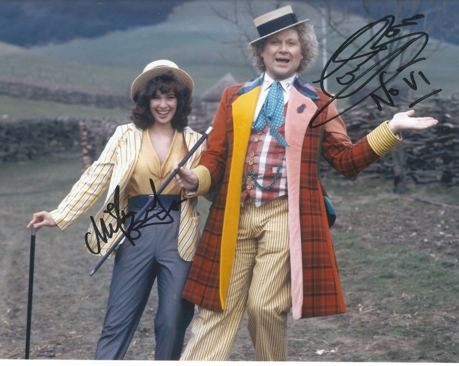 "Colin Baker & Nicola Bryant Dr Who 8 x 10"" Autographed Photo (Reprint:627) Great Gift Idea!"