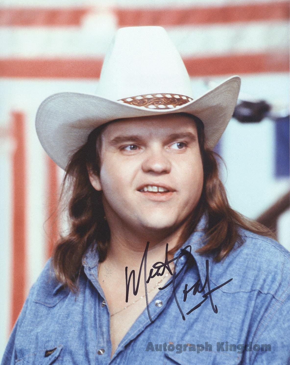 """Meat Loaf (Rock Star) 8 X 10"""" Signed /Autographed Photo Reprint :006274) ideal for Birthdays & X-mas"""