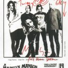 Marilyn Manson Group Photo: signed by Madonna Wayne Gacy, Marilyn Manson, Twiggy, Ginger Fish)
