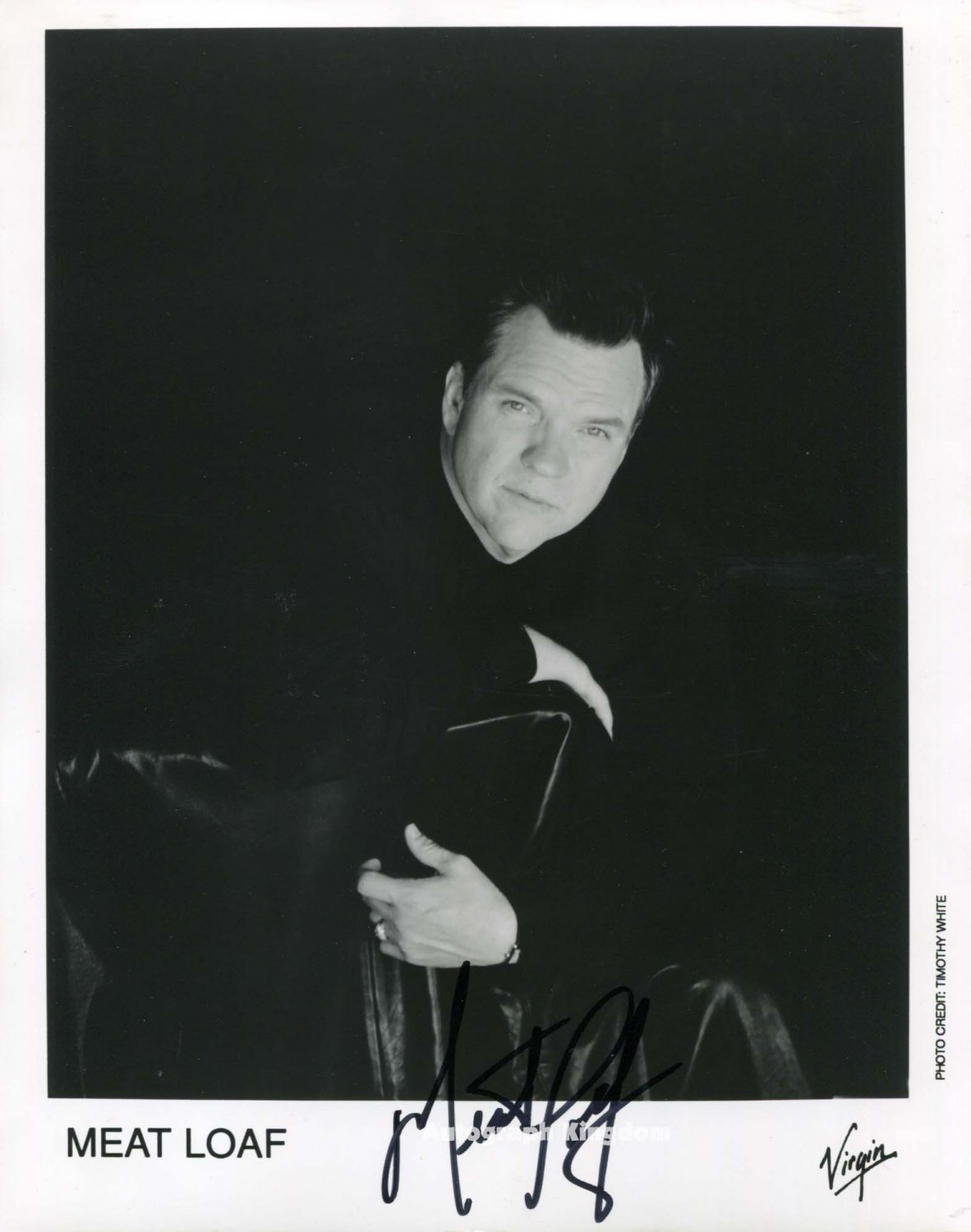 "Meat Loaf 8 x 10"" Autographed Photo Paradise By The Dashboard Light - (Reprint :ML011)"