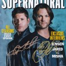 """Signed by 2 Jensen Ackles & Jared Padalecki 8 x 10"""" Autographed Photo (Reprint :SPTV019)"""