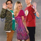 """The Big Bang Theory Cast x 3 : Galecki, Parsons & Cuoco 8 x 10"""" Autographed Photo - (Ref:TBT09)"""
