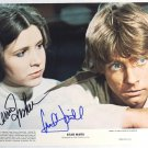 "Mark Hamill & Carrie Fisher Star Wars 8 X 10"" Autographed Photo - (Ref:760)"