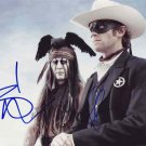 "Signed by 2 Johnny Depp & Armie Hammer The Lone Ranger 8 X 10"" Autographed Photo - (Reprint:762)"