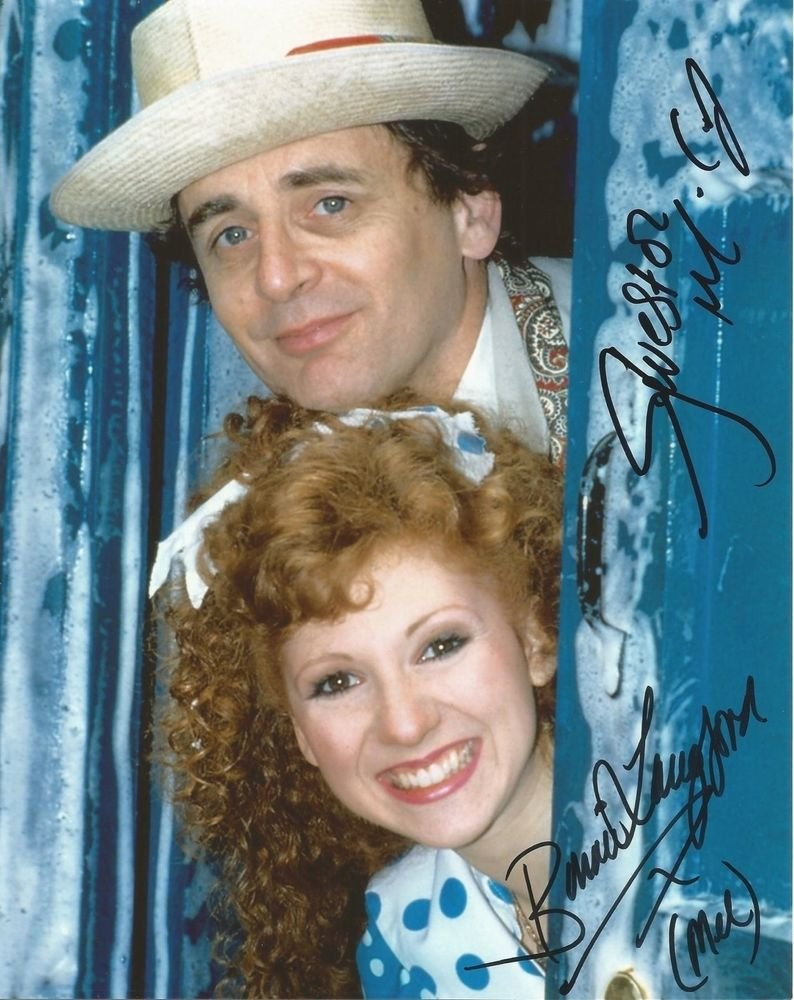 """Sylverster McCoy & Bonnie Langford 8 x 10"""" Autographed Photo - (Reprint:786) FREE SHIPPING"""