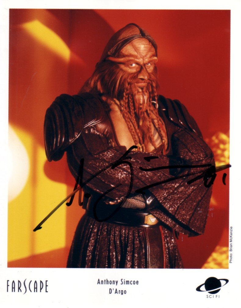 "Anthony Simcoe (Farscape) 8 x 10"" Autographed Photo (Reprint:818) Ideal for Birthdays & Xmas"