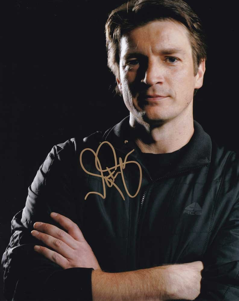 "Nathan Fillion (Firefly / Castle) 8 X 10"" Autographed Photo (Reprint:826) FREE SHIPPING"