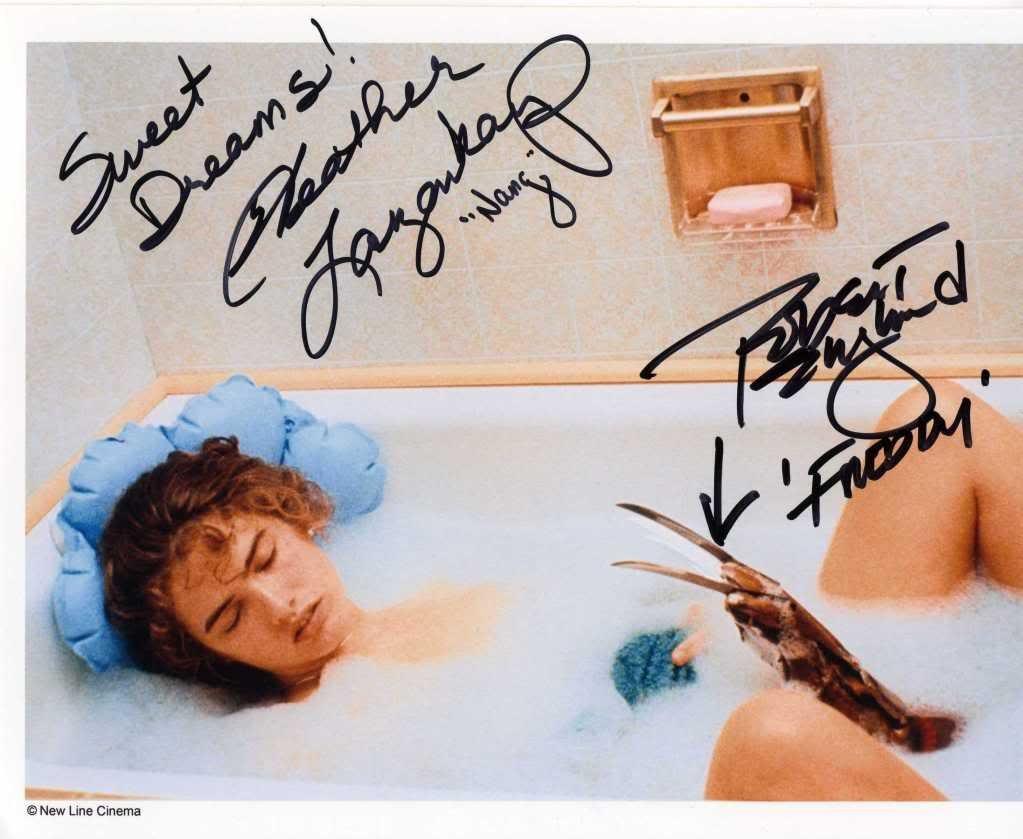 "Heather Langenkamp & Robert Englund A Nightmare on Elm St  8 x 10"" Autographed Photo - (Ref:841)"