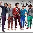 "One Direction 8 x 10"" Autographed Photo: Styles, Payne, Malik, Horan, Tomlison (Reprint)"
