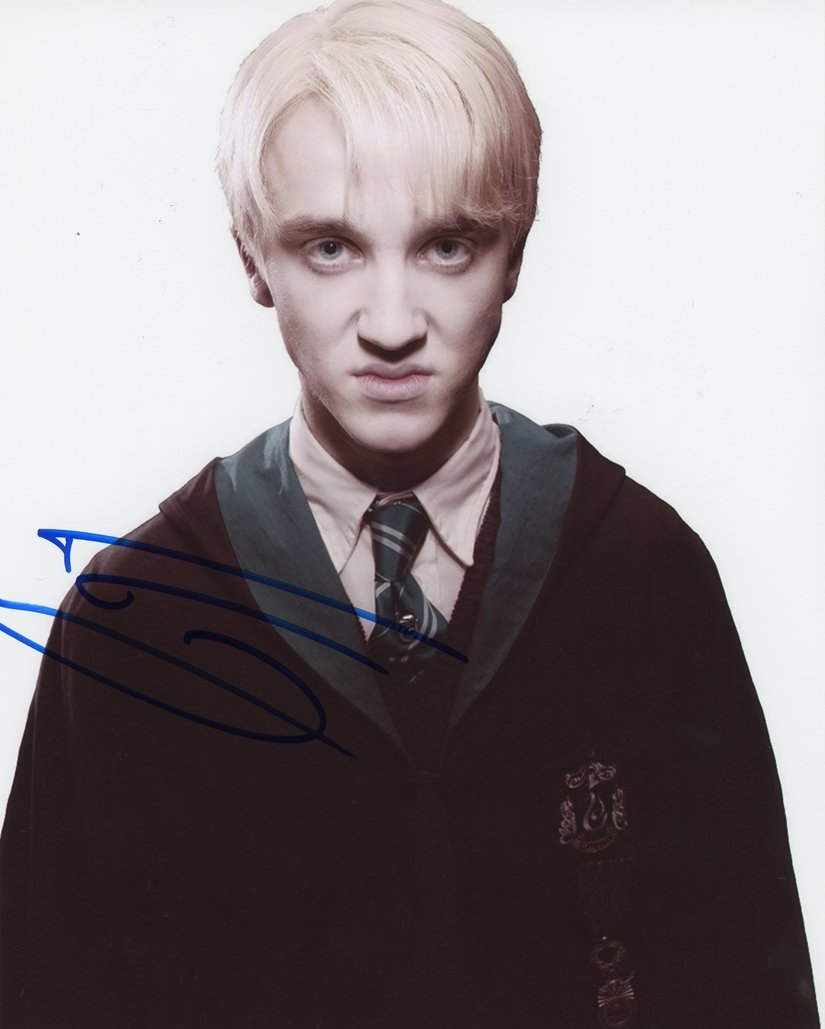 "Tom Felton (Harry Potter) 8 X 10"" Autographed photo (Ref:911)"