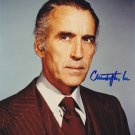 "Rare Christopher Lee (The Man With The Golden Gun/ Dracula) 8 X 10"" Autographed photo (Reprint :915)"