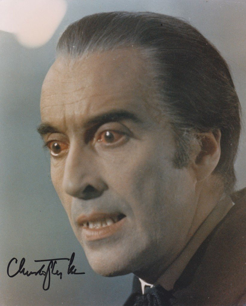 "Christopher Lee 8 X 10"" Autographed photo Dracula/ Lord of The Rings (Reprint :917) Great Gift Idea!"