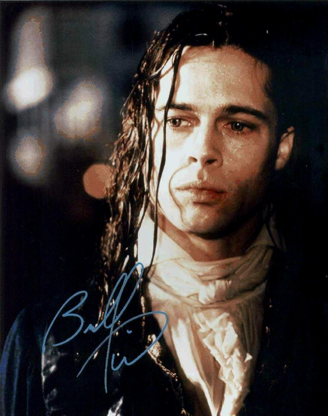 "Brad Pitt 8 x 10"" Autographed Photo An Interview A Vampire  / 12 Monkeys / Troy (Reprint:997)"
