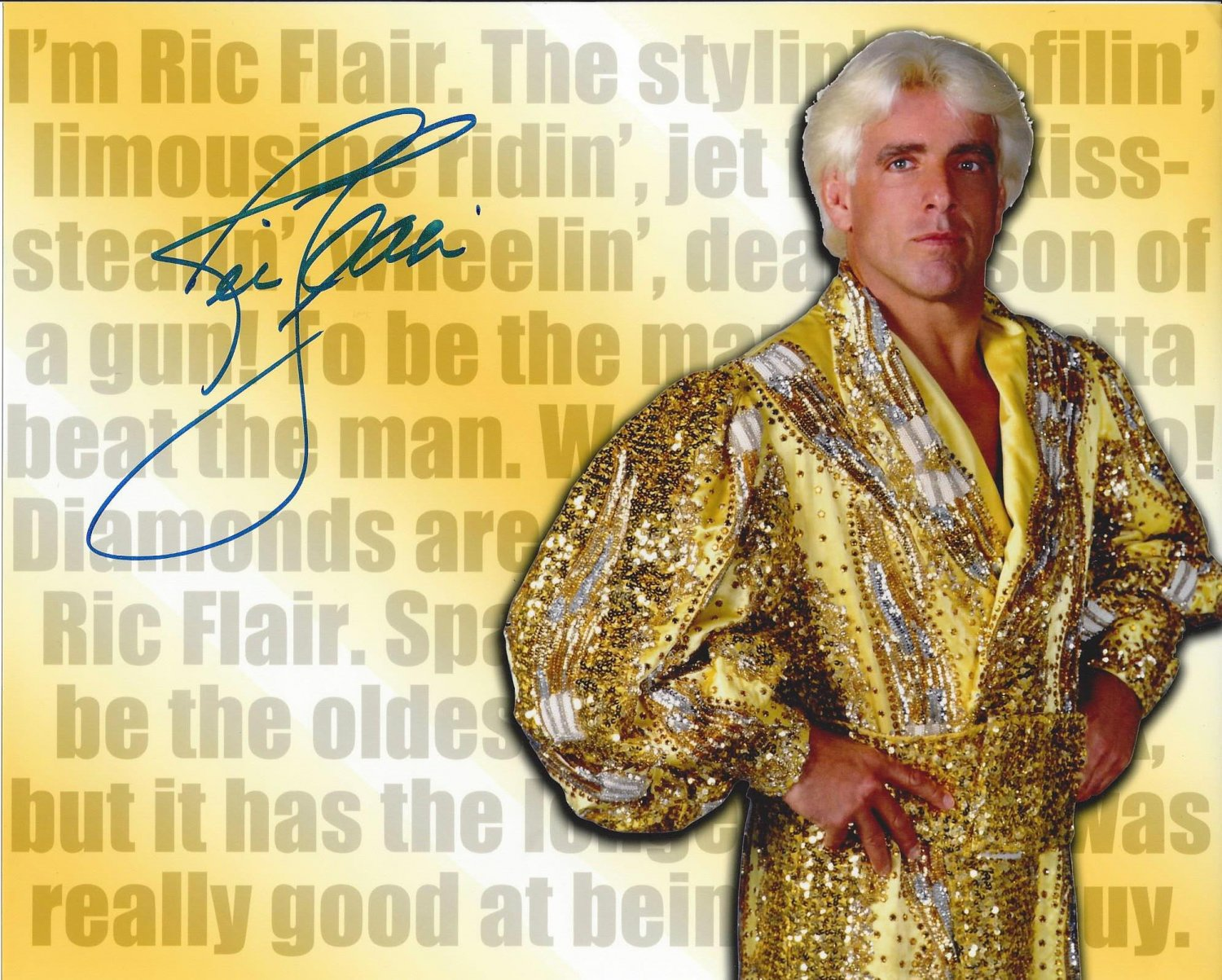 """Ric Flair Nature Boy (Wrestler) 8 x 10"""" Signed / Autographed Photo (Reprint :1035) Great Gift Idea!"""
