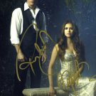 "Paul Wesley & Nina Dobrev The Vampire Diaries 8 x 10"" Autographed Photo (Ref:1070)"