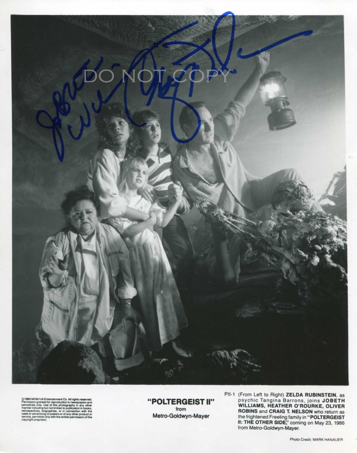 "Poltergeist 1982 Craig T. Nelson & JoBeth Williams 8 x 10"" Autographed Photo(Reprint:1090)"