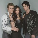 "Ian Somerhalder & Paul Wesley 8 X 10"" Autographed Photo - (Ref:1095)"